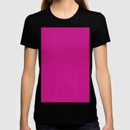 color medium violet red T-shirt