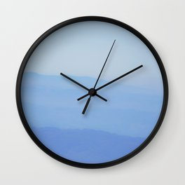 mountain fog Wall Clock