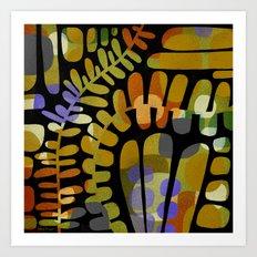LEAFY MEANDERINGS Art Print