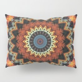 Fundamental Spiral Mandala Pillow Sham
