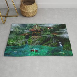 Tale of the Red Swans Rug