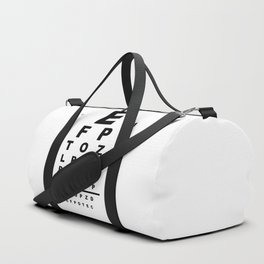 Eye Test Chart Duffle Bag