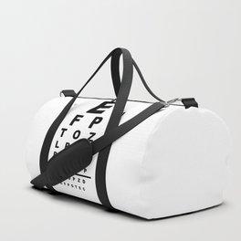 Eye Test Chart Duffle Bag