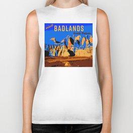 Visit Badlands Retro Postcard Biker Tank