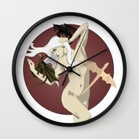 mother of dragons Wall Clocks featuring Dragons  by Andrew Formosa