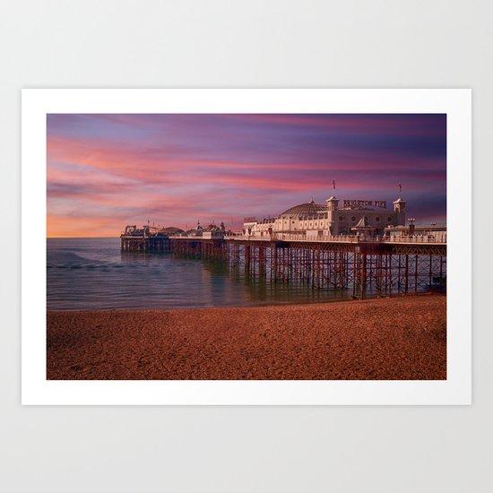 Brighton Pier Sunrise Art Print