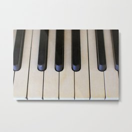 Antique Piano Keys Metal Print