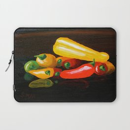 Peppers From a Friend, the painting Laptop Sleeve