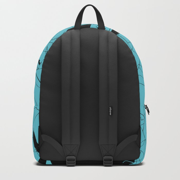 Dublin Ireland Turquoise on Black Street Map Backpack