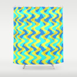 Crosswave Yellow - Electron Series 001 Shower Curtain