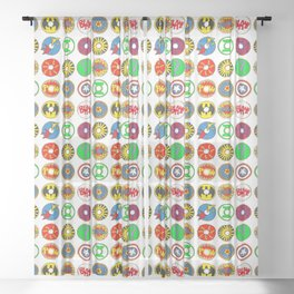 Superhero Donuts Sheer Curtain