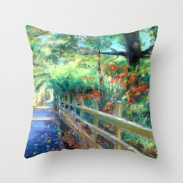 The Bicycle Path Throw Pillow