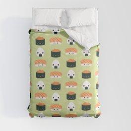 Salmon Dreams in wasabi, large Comforters