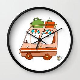 camper van vintage travel Wall Clock