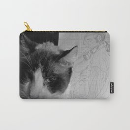 Cats...Not Caring in the History of Ever Carry-All Pouch