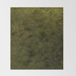 olive green velvet | texture Throw Blanket