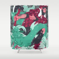 capricorn Shower Curtains featuring Capricorn by Greg Wright