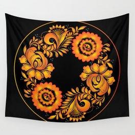 Floral khokhloma folk Wall Tapestry