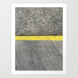 Yellow Curb Art Print