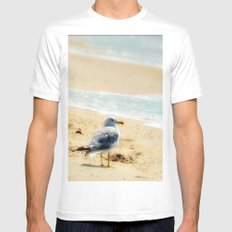 Lonely gull of summer. MEDIUM Mens Fitted Tee White