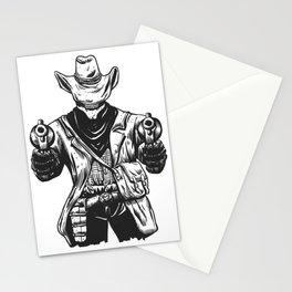 Wild cowboy skeleton - western skull cartoon Stationery Cards