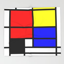 Mondrianista Throw Blanket