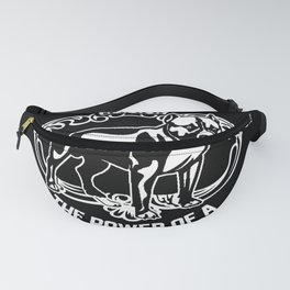 the power of woman with pitbull dog Fanny Pack