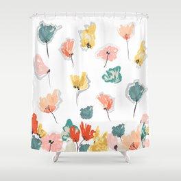 Wild Beauty Saffron Shower Curtain