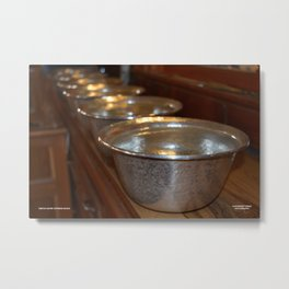 Tibetan Water Offering Bowls Metal Print