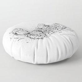 American Oystercatcher nest Floor Pillow