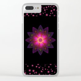 Abstract purple flower 03 Clear iPhone Case