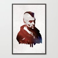 taxi driver Canvas Prints featuring Taxi Driver by Mahdi Chowdhury