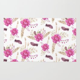 Autumn Forest Floral Rug