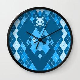 Arrrrrgyle -Blue Wall Clock