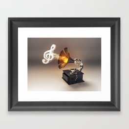 let the music play (just keep the groove) Framed Art Print