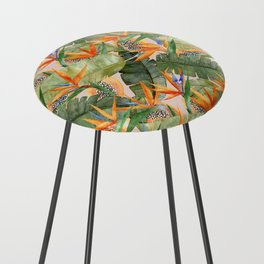 Birds of Paradise Counter Stool