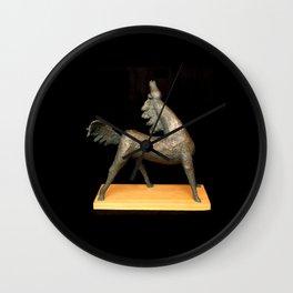 Exuberant Colt (Sculpture by Eva Hoedeman) Wall Clock