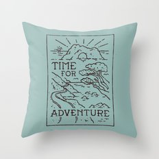 Time For Adventure Throw Pillow