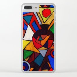geometric patterns colors Clear iPhone Case