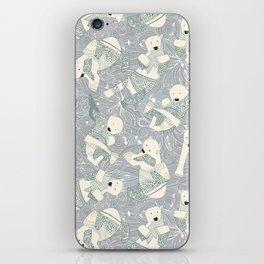 arctic polar bears silver iPhone Skin