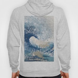 The Great Wave Abstract Ocean Hoody