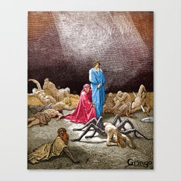 Dante and Arachne Canvas Print