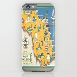 classic poster marche e san marino italia iPhone Case