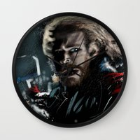 thor Wall Clocks featuring Thor by tgronberg