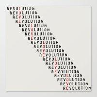 revolution Canvas Prints featuring Revolution by Skye Zambrana