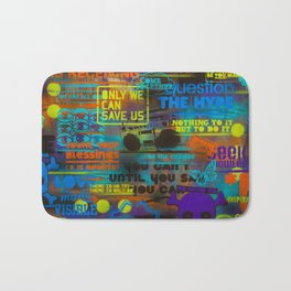 Uplifting Collage (fluo) Bath Mat