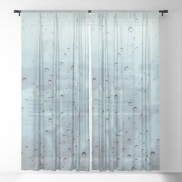 City Rain Drops Sheer Curtain