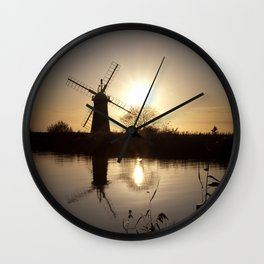 Norfolk Broads Sunset Wall Clock