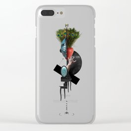 IN VEIN (Totem of the Peacock) Clear iPhone Case