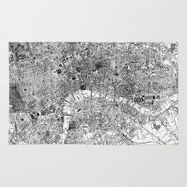 Vintage Map of London England (1860) BW Rug